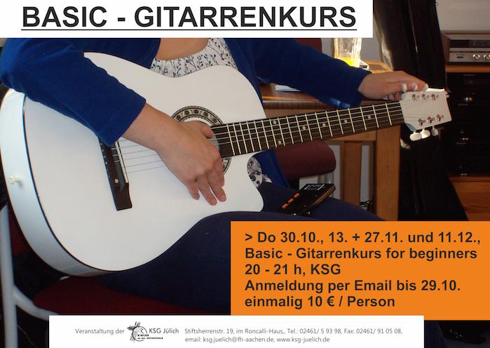 Basic-Gitarrenkurs für Anfänger