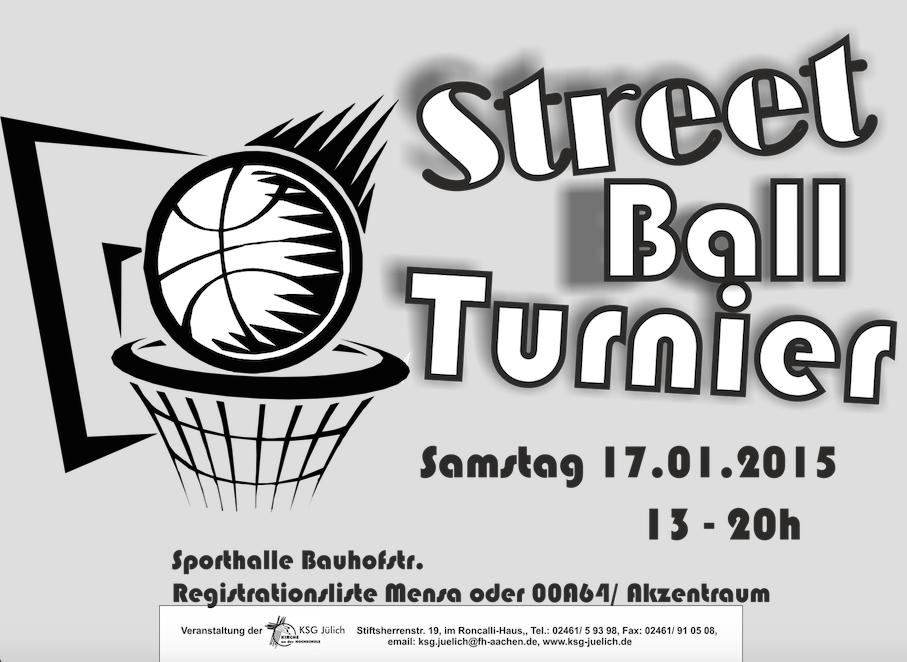 Streetball-Turnier Sa. 17.1.