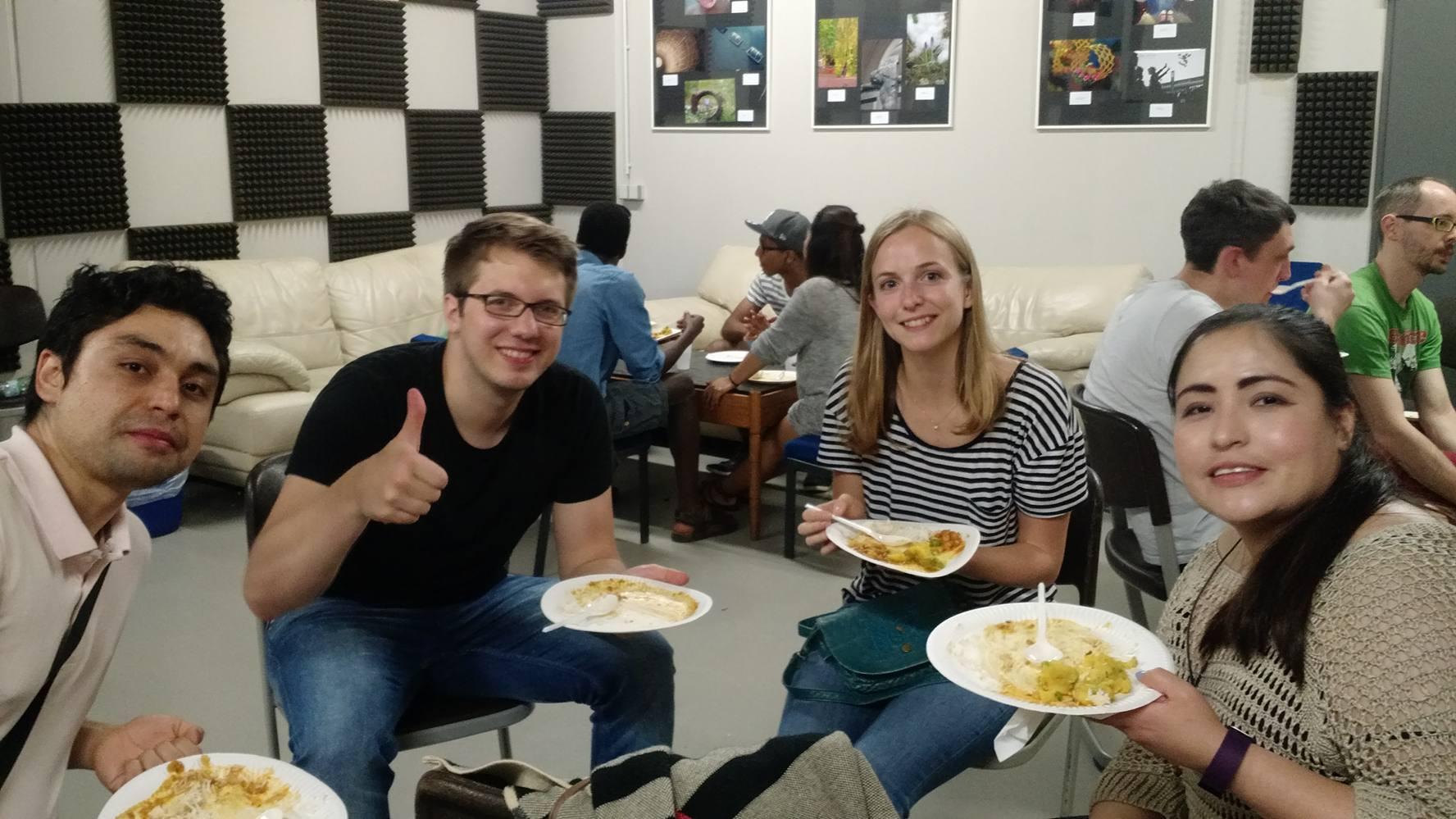 Bilder vom indian food event