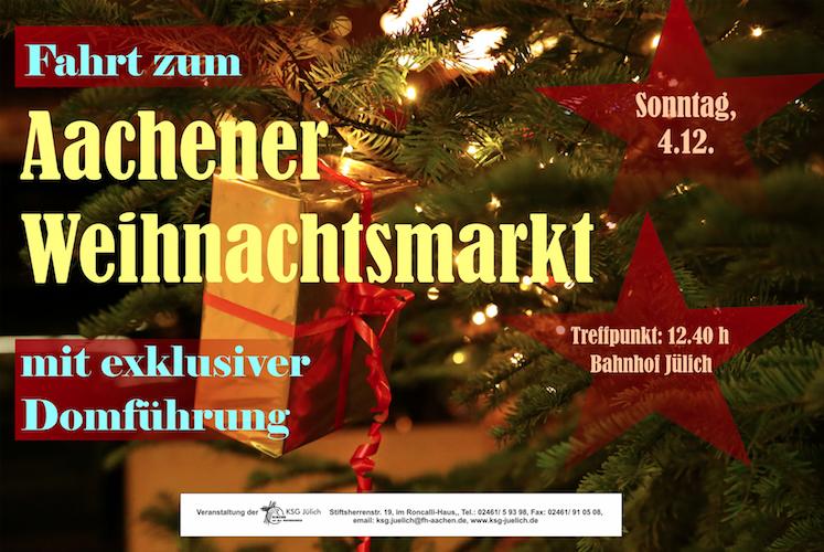 Fahrt zum Aachener Weihnachtsmarkt