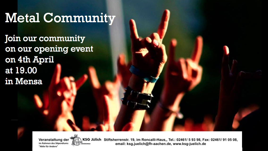 Metal Community – starting event 4th April