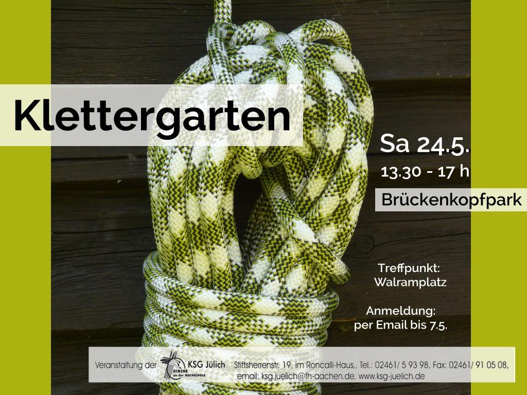 Plakat Klettergarten