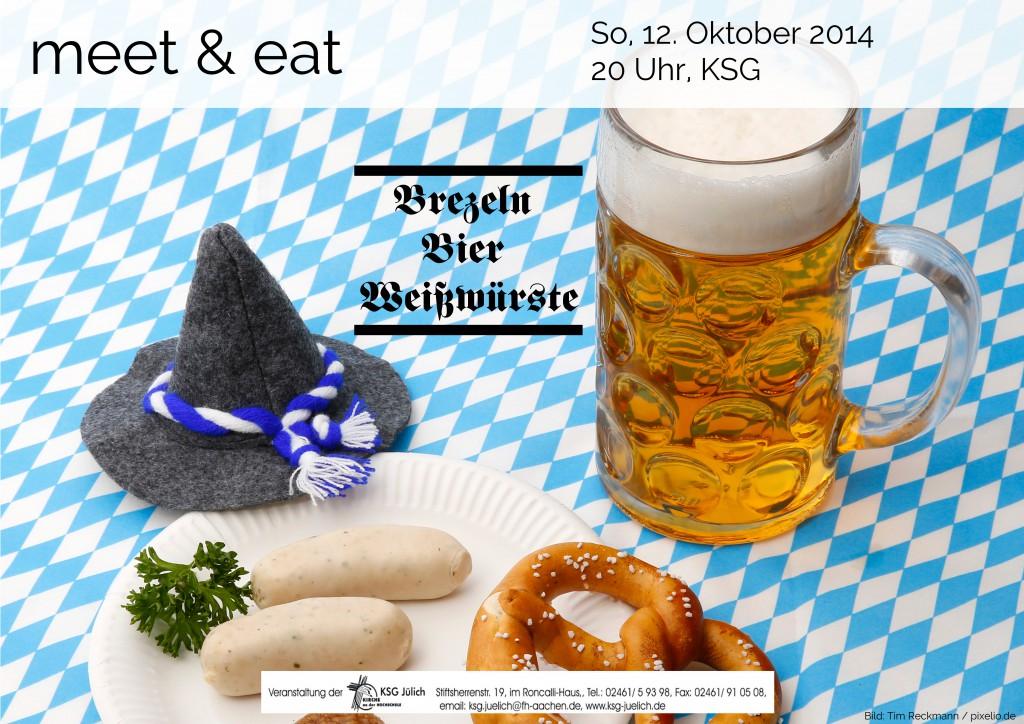 Plakat meet and eat Okt 2014