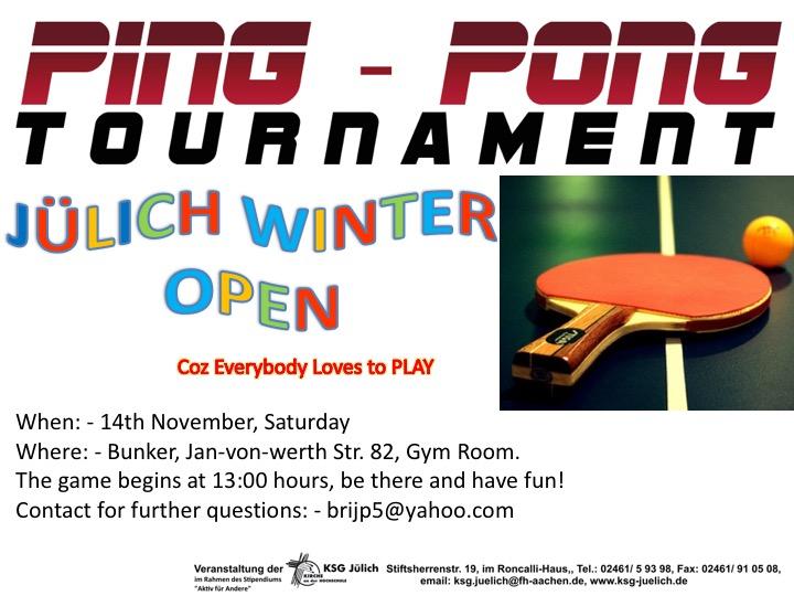 Poster for TT tournament