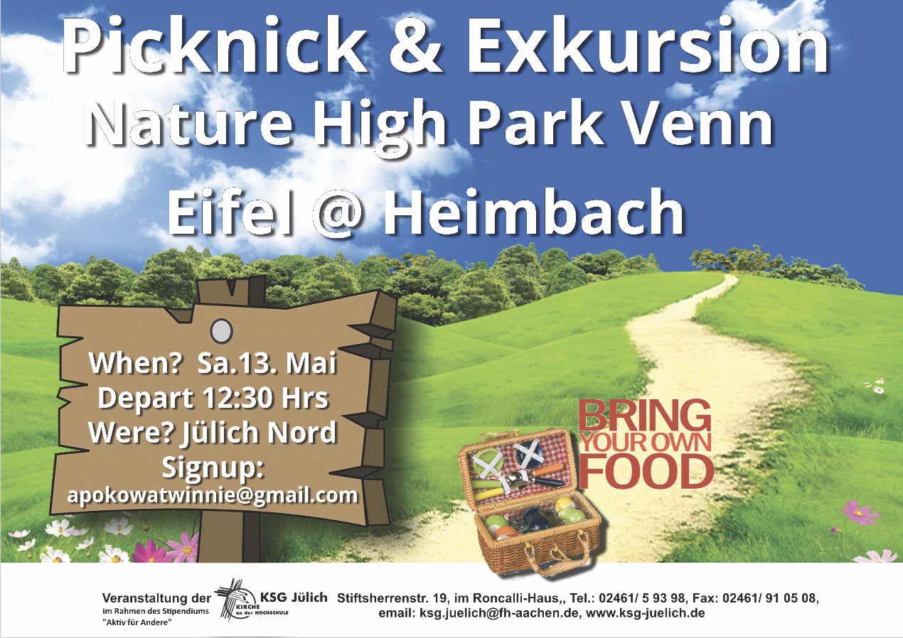 Exkursion und Picknick Sa 13.5.