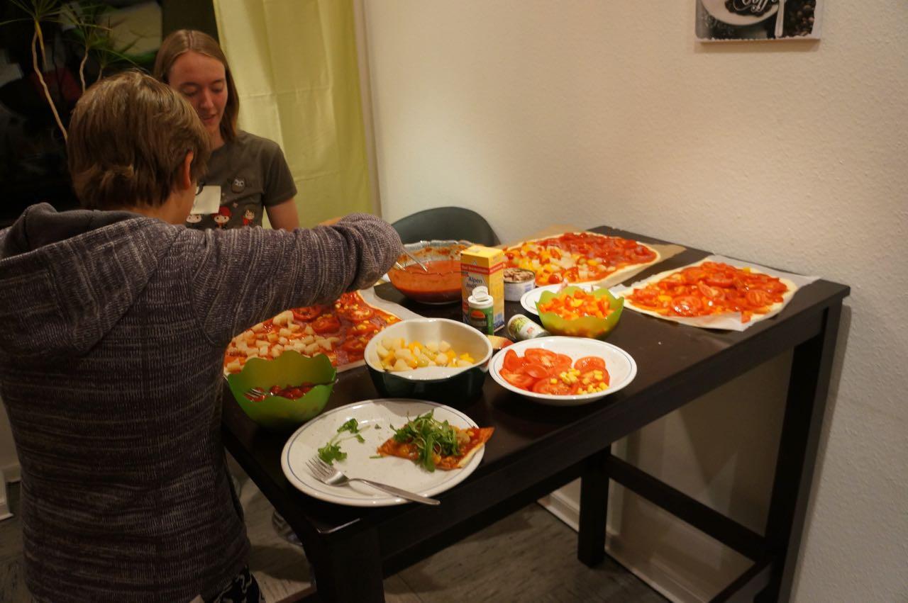 Diesmal gab es Pizza