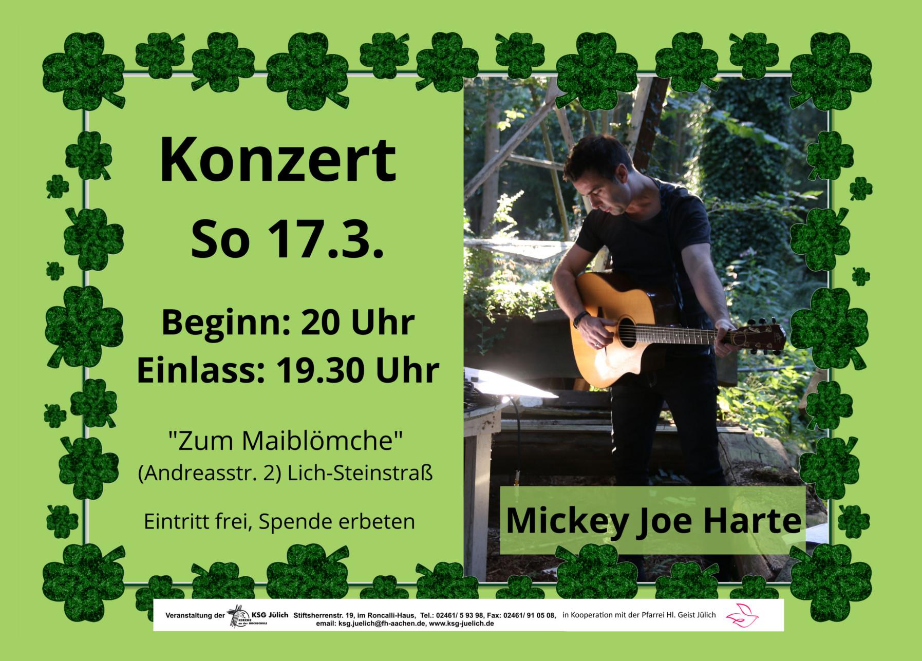 Irisches Konzert am St. Patrick´s Day