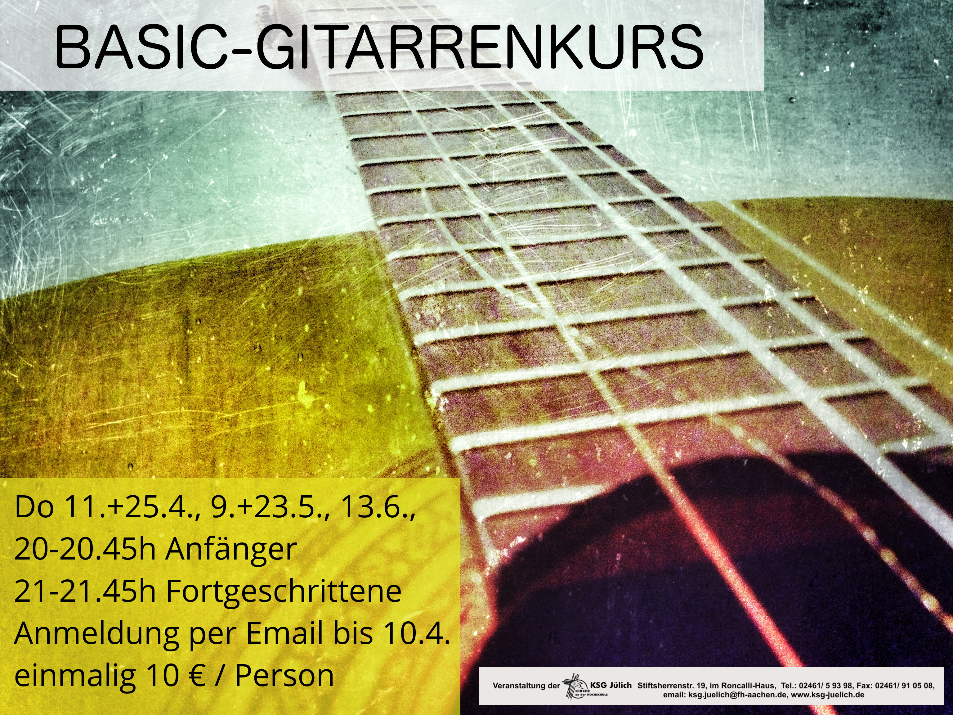 Neuer Gitarrenkurs jetzt anmelden!