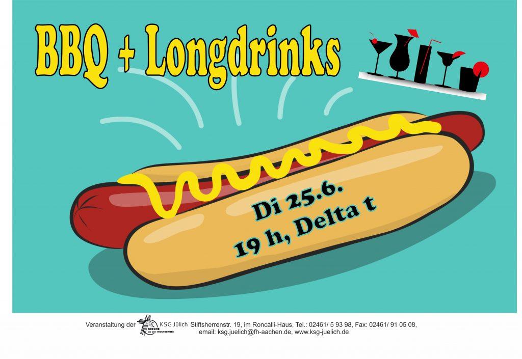 BBQ   Longdrinks Di 25.6. 19h Delta t